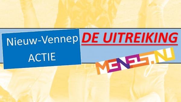 De uitreiking van de Nieuw-Vennep Actie, jongereninitiatieven wedstrijd.